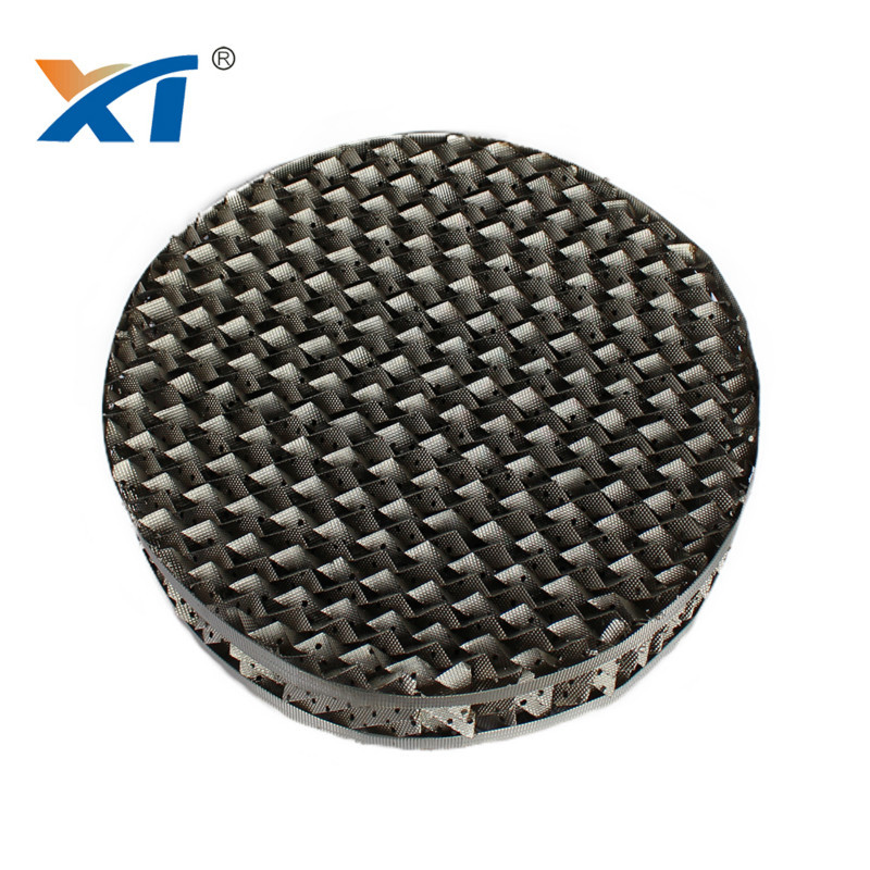 Metal perforated plate corrugated packing Berl Saddles for sale